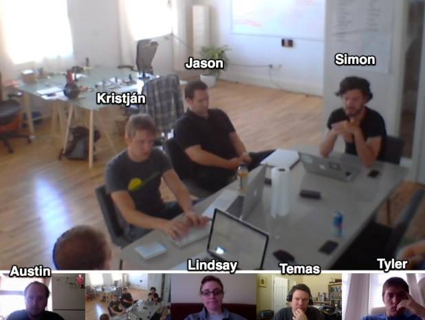 Here's a typical day at Singly. Some of use are traveling or working from home while the rest are in the office.